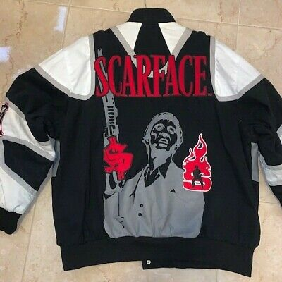 Vintage Rare JH Designs Scarface Denim Jacket 4XL