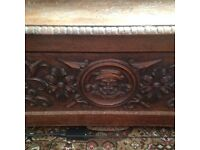 wow stunning antique settle victorian very heavily carved