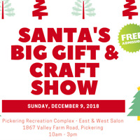Vendors Wanted- Santa Craft Show- Pickering- Dec 9th