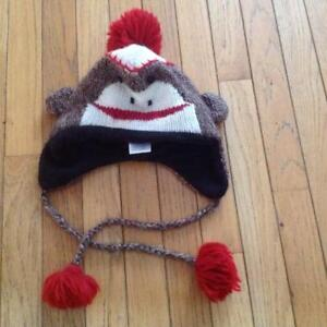 DELUX KNITWITS MONKEY HAT ADULT HAND MADE WOOL