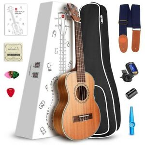 "New 21"" Soprano Ukulele or 23"" Concert + Bag, Tuner & More Incl."