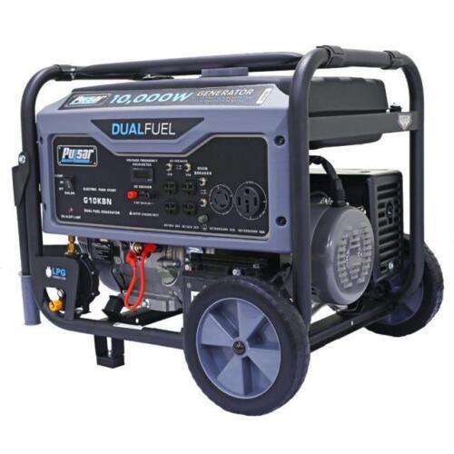 Pulsar 10000W Portable Dual Fuel Propane/Gas Generator w/ Electric Start G10KBN