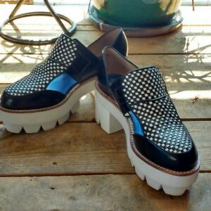 Jeffrey Campbell Raynor Checkerboard Cut Out Platforms 10 US