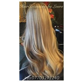 Hair extensions by Laura