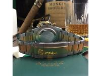 Rolex Daytona with Gold face and TwoTone Bracelet Comes Rolex Bagged And Boxed With Paperwork