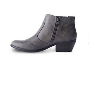 DENVER HAYES TAUPE ANKLE BOOTIES-BRAND NEW