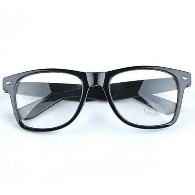 Fashion Cool Unisex Clear Lens Nerd Geek Glasses Eyewear For Men Womens Vintage