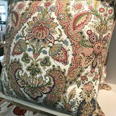Pottery Barn Florentine Pillow Cover Warm 22 sq Paisley Floral Sham
