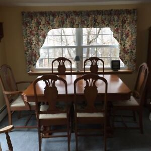 Table, Chairs, China Cabinet and Buffet