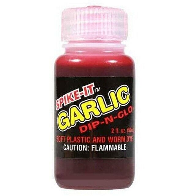 Spike-It 3009 Dip-N-Glo Fire Red Garlic 2 oz Fishing Attractant