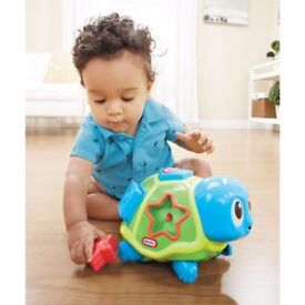 New ELC Boys and Girls Little Tikes Sort 'n' Crawl Turtle Toy From 6 months