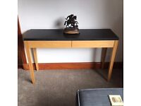Solid Oak & granite console/sofa table