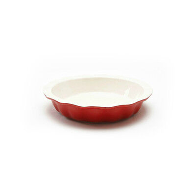 Good Cook 04412 Ceramic Pie Plate, Red, 9