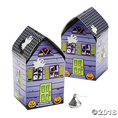 12 HALLOWEEN Haunted House Favor Boxes Treat GOODY BAG BIRTHDAY Party Favor