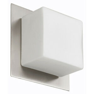 New Lighting! Wall Fixture Satin Chrome  1 Light Flush Mounted F
