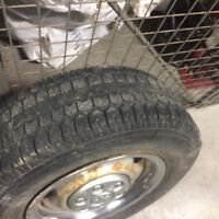 215-70-15 winter rims and tires uniroyal ford dodge