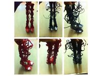 High heel Platform Lace up Sandals size 6 / 39!