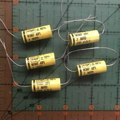 Cornell Dubilier Axial Film Capacitor .1uf 400v Wmf4p1 K 10 Polyester 5pcs