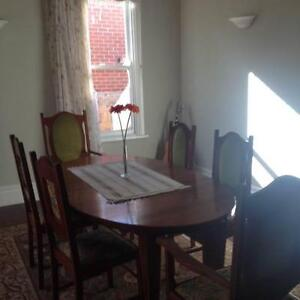 Beautiful antique set of table and chairs.  Table extends and cha Fremantle Fremantle Area Preview