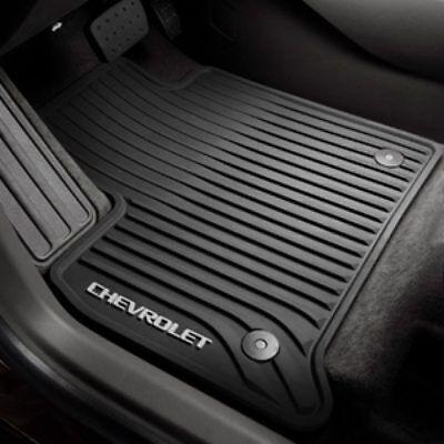 2018 Chevrolet Traverse Genuine GM Front All Weather Floor Mats Black 84162515