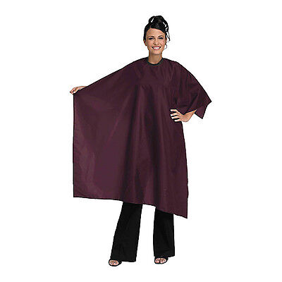 Betty Dain Hair Salon Styling Cape Nylon 45x55 Burgundy 199 V Closure Made USA