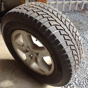 4 Ice Pro Snow Tires on rims