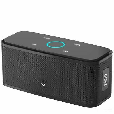 DOSS Touch Wireless Bluetooth V4.0 Portable Speaker with HD Sound and Bass Black