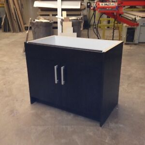 Bathroom vanity NEW, dark stained real wood, cash & carry