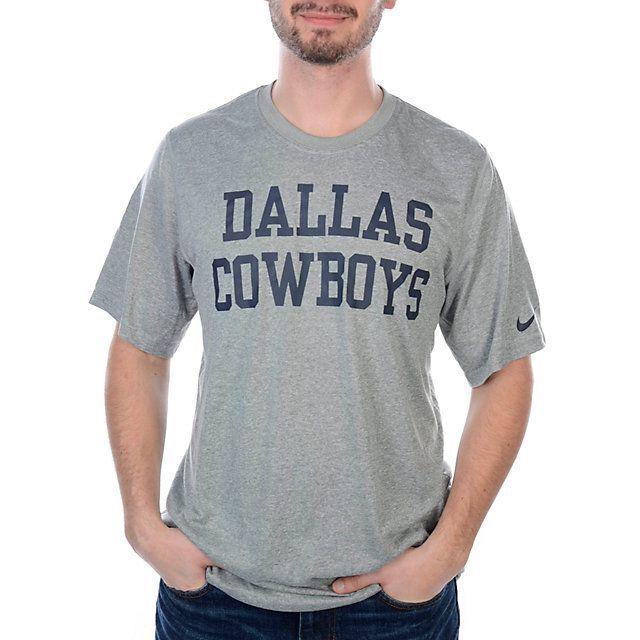 ... New Nike Dallas Cowboys NFL Football Dri-Fit t-shirt men XXL Gray  Legend ... 9553fcb64