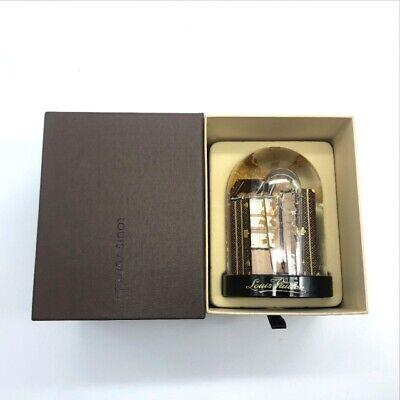 LOUIS VUITTON Glass Snow Globe Monogram wardrobe trunk Novelty VIP Limited Japan