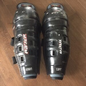 "Bauer Shin pads 12 "" in fair condition"