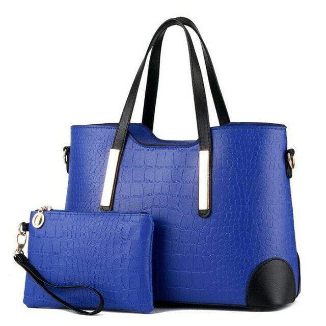 Luxury Handbag Women Lady Shoulder Bags PU Leather Handle Bag Purse Clothing, Shoes & Accessories
