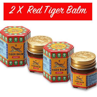 2 X Balsamo di TIGRE Rosso ORIGINALE ( in ITALIA ) / RED Tiger BALM - 21 ml