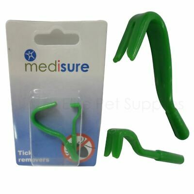 Medisure Pet Tick Remover Tool 2 Removal Hook Set - Cat Dog Rabbit Human