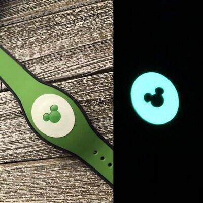 1 Glow In The Dark Disney Magic Band Decal Sticker Mickey Head Cutout - Glow Bands