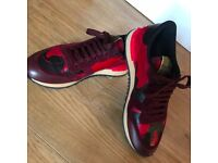 Burgundy/Red Camoflage authentic Valentinos Size 8