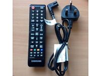 samsung tv remote and power cable