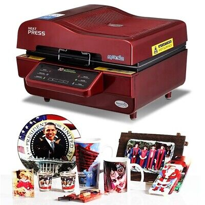 Sublimation Vacuum Heat Press Printer Machine For Shirts Cases Mugs More