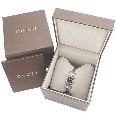 GUCCI watches square face GGpattern Ladies Authentic Used Y3180