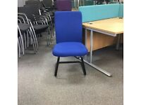 Blue High Back Cantilever Chair