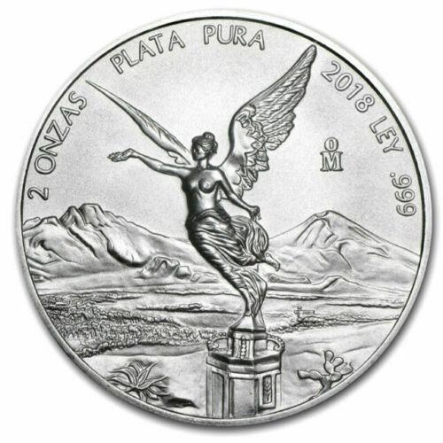 2018 GEM BU 2 oz Silver .999 MEXICO LIBERTAD