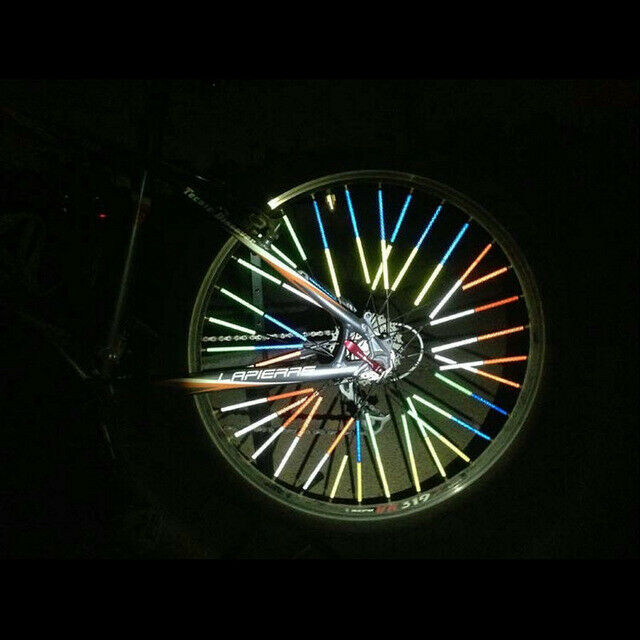12Pcs Rapid Reflect Bicycle Light Wheel Clip Tube Light Cycling Safe Warning HOT