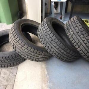 225/60R18 TOYO OBSERVE WINTER SET OF 2 USED TIRES 90%tread left