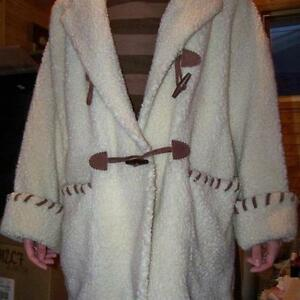 REDUCED $125. Sz XL Sheepskin Like Coat