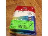 3x Canon Pixma ink Cartridges -New, -525 and 526