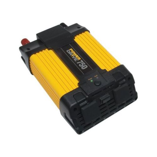 PowerDrive 750W 12V DC to 110V AC Power Inverter with USB Port and 2 AC Outlets