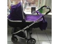 3in1 vib purple pram