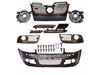 New Front bumper and Optic Fog lights Golf V MK 5 GTi 2003 - 2009 1K R32 Black