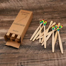Joblot 100X bamboo toothbrushes individual packaging only 45p each!!!