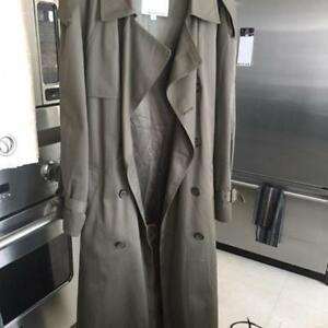 GENUINE LONDON FOG EXCELLENT COND. Mens TRENCH LONG OVERCOAT